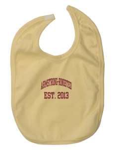 Armstrong-Ringsted Middle School Mustangs Baby Interlock Bib