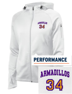 San Saba Intermediate School Armadillos Embroidered Women's Tech Fleece Full-Zip Hooded Jacket