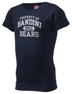 Bandini Elementary School Bears  Girl's Fine Jersey Longer Length T-Shirt