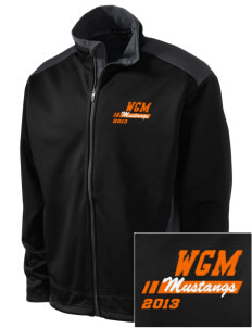 William G Mather Middle School Mustangs Embroidered Soft Shell Two-Tone Jacket