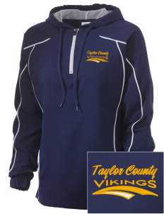 Taylor County Middle School Vikings Embroidered Russell Women's Prestige 1/4 Zip Jacket