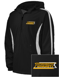 Hornbeck High School Hornets Embroidered Men's Colorblock Raglan Anorak