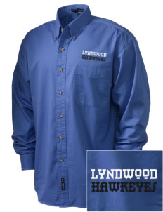 Lyndwood Elementary School Hawkeyes Embroidered Men's Twill Shirt