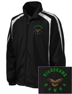 Kilbourne School Hawks Embroidered Men's Colorblock Raglan Jacket