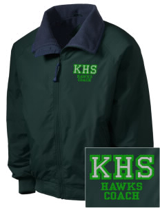 Kilbourne School Hawks Embroidered Men's Fleece-Lined Jacket