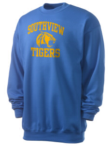 Southview Elementary School Tigers Men's 7.8 oz Lightweight Crewneck Sweatshirt