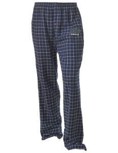 Turner High School Tornadoes Unisex Button-Fly Collegiate Flannel Pant with Distressed Applique