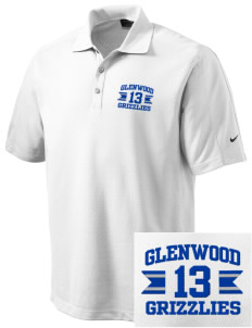 Glenwood Elementary School Grizzlies Embroidered Nike Men's Dri-FIT Pique II Golf Polo