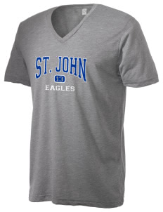 Saint John Elementary School Eagles Alternative Men's 3.7 oz Basic V-Neck T-Shirt