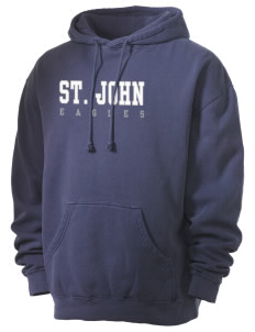 Saint John Elementary School Eagles Men's 80/20 Pigment Dyed Hooded Sweatshirt
