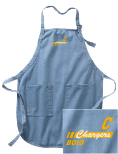Cameron Elementary School Chargers Embroidered Full-Length Apron with Pockets