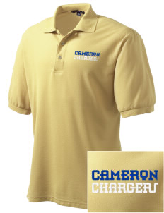 Cameron Elementary School Chargers Embroidered Tall Men's Silk Touch Polo