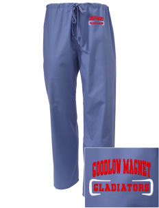 Goodlow Elementary Magnet School Gladiators Embroidered Scrub Pants