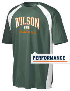 Wilson High School Trojans Men's Dry Zone Colorblock T-Shirt