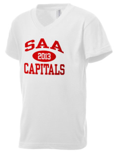 Sacramento Adventist Academy Capitals Kid's V-Neck Jersey T-Shirt