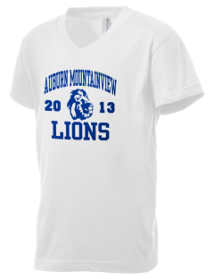 Auburn Mountainview High School Lions Kid's V-Neck Jersey T-Shirt