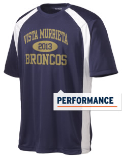 Vista Murrieta High School Broncos Men's Dry Zone Colorblock T-Shirt