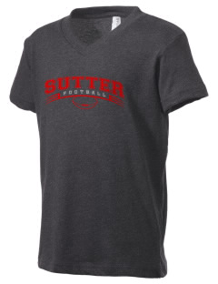 Sutter Middle School Cougars Kid's V-Neck Jersey T-Shirt