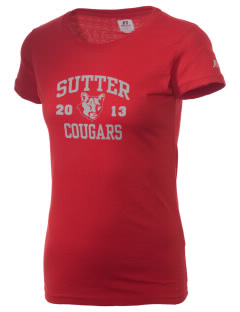 Sutter Middle School Cougars  Russell Women's Campus T-Shirt