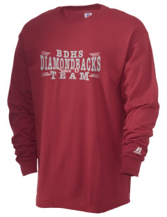 Beaver Dam High School Diamondbacks  Russell Men's Long Sleeve T-Shirt