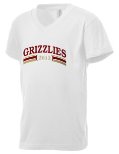 Mission Hills High School Grizzlies Kid's V-Neck Jersey T-Shirt