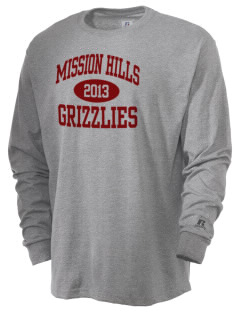 Mission Hills High School Grizzlies  Russell Men's Long Sleeve T-Shirt