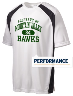 Mountain Valley Academy Hawks Men's Dry Zone Colorblock T-Shirt