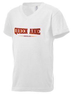 Queen Anne High School Grizzlies Kid's V-Neck Jersey T-Shirt
