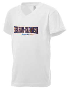 Graham-Kapowsin High School Eagles Kid's V-Neck Jersey T-Shirt
