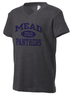 mead senior high school panthers Kid's V-Neck Jersey T-Shirt
