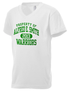 Alfred E. Smith High School Warriors Kid's V-Neck Jersey T-Shirt