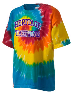 Heritage High School Timberwolves Kid's Tie-Dye T-Shirt