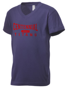 Centennial High School Titans Kid's V-Neck Jersey T-Shirt