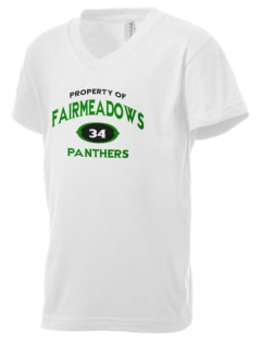 Fairmeadows Elementary School Panthers Kid's V-Neck Jersey T-Shirt