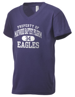 Maywood Baptist Pilgrim School Eagles Kid's V-Neck Jersey T-Shirt
