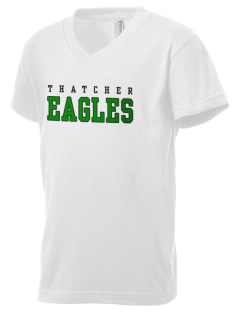 Thatcher High School Eagles Kid's V-Neck Jersey T-Shirt
