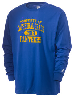 Cathedral Grade School Panthers  Russell Men's Long Sleeve T-Shirt