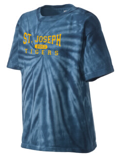 Saint Joseph School Tigers Kid's Tie-Dye T-Shirt