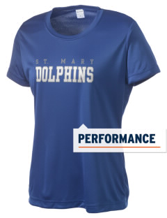 Saint Mary Elementary School Dolphins Women's Competitor Performance T-Shirt