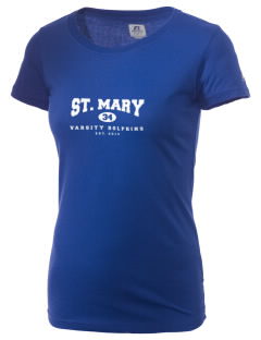 Saint Mary Elementary School Dolphins  Russell Women's Campus T-Shirt