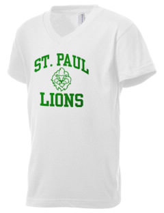 Saint Paul School Lions Kid's V-Neck Jersey T-Shirt