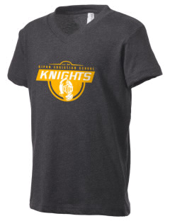 Ripon Christian School Knights Kid's V-Neck Jersey T-Shirt