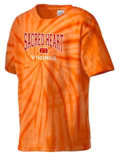 Sacred Heart School Vikings Kid's Tie-Dye T-Shirt
