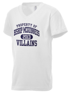 Bishop McGuinness Catholic High School Villains Kid's V-Neck Jersey T-Shirt