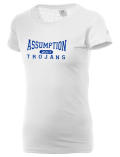 Assumption School Trojans  Russell Women's Campus T-Shirt