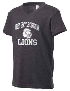 West Seattle Christian School Lions Kid's V-Neck Jersey T-Shirt