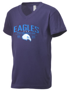 Vivian Banks Charter School Eagles Kid's V-Neck Jersey T-Shirt