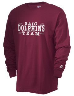 Saint Anthony Immaculate Conception Dolphins  Russell Men's Long Sleeve T-Shirt