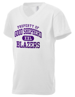 Good Shepherd School Blazers Kid's V-Neck Jersey T-Shirt