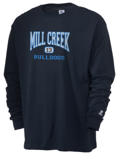 Mill Creek Middle School Bulldogs  Russell Men's Long Sleeve T-Shirt